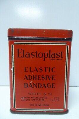 VINTAGE ELASTOPLAST TIN MEDICAL FIRST AID CHEMIST TIN MEDICINE