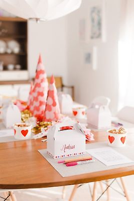 Baby Shower Treats (12pc White Kraft Paper DIY Wedding Party Favors Baby Shower Treat Gift)
