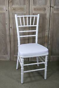 White Tiffany Chairs For Hire $6 each - Setup / delivery / packup Southern River Gosnells Area Preview