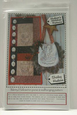 Halloween Wall Hanging Patterns (Merry Halloween Wall Hanging and Purse Embroidery Pattern, Hudson's)