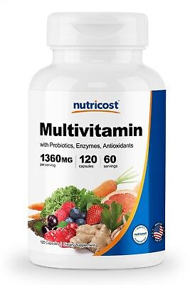 - Nutricost Multivitamin 120 Caps - Packed With Vitamins & Minerals, Gluten Free