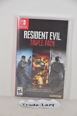 NEW NS Switch Resident Evil Biohazard Triple Pack  4 + 5 +6 (US, CHI/ ENG/ JAP)