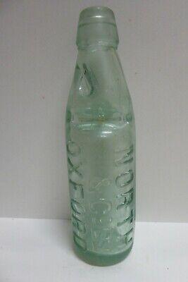 NORTH & CO OXFORD ANTIQUE GLASS CODD MARBLE BOTTLE P.WADDINGTON SONS MEXBORO