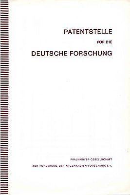 Patentstelle für die deutsche Forschung Richtlinien - Geschäftsordnung von 1971
