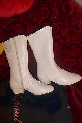 Gardestiefel  Tanzstiefel f. Gardekostüm Tanzmariechen Tanz Stiefel Gr. 35 (Weiße Kostüm Stiefel)