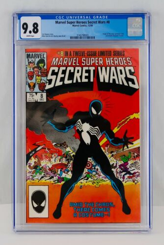 SECRET WARS #8 CGC 9.8 White Pages First Black Suite Spider-man Appearance NM/MT