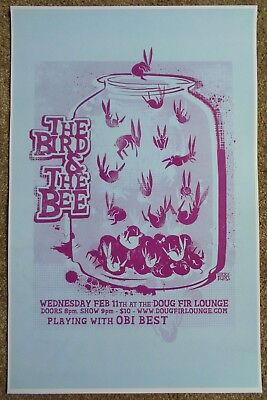 THE BIRD AND THE BEE 2009 Gig POSTER Portland Oregon Concert
