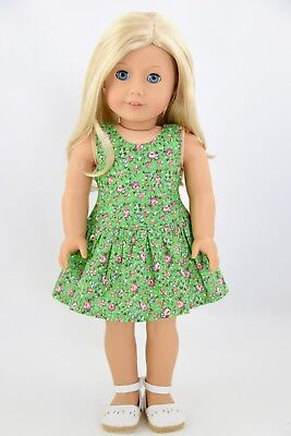 Spring St.Patrick's Day Green Dress American Made Doll Clothes18 Inch Girl Dolls](St Patrick's Day Apparel)