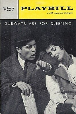 "Sydney Chaplin ""SUBWAYS ARE FOR SLEEPING"" Carol Lawrence 1961 Premiere Playbill"