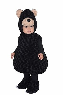 Underwraps Black Bear Belly Babies Animal Child Boys Halloween Costume 25869 - Kids Black Bear Costume