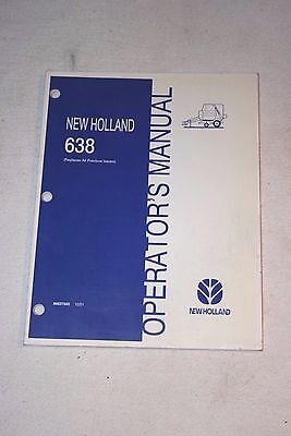 New Holland 638 Round Baler Operator Manual