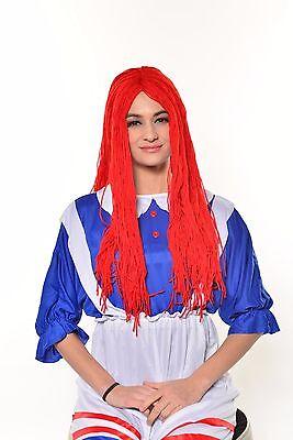 Halloween Raggedy Doll Red Ragdoll Wig Cosplay Costume G0539](Ragdoll Dolls Halloween)