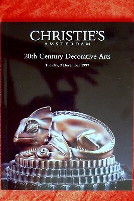 Christie's: 20th Century Decorative Arts 1997 Kleider Kostüme Plakate Kunst RAR