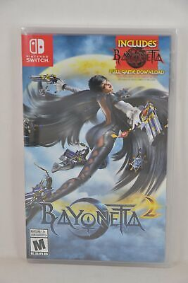 NEW NS Switch Bayonetta 2 (US Version) + Bayonetta 1 Full Game DLC Download Card