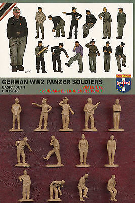 1:72 FIGUREN 72045 GERMAN WWII PANZER SOLDIERS SET 1 - ORION