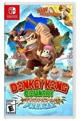 Donkey Kong Country Tropical Freeze   Nintendo Switch   Brand New Factory Sealed