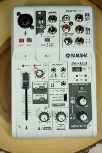 YAMAHA Web Casting Mixer Audio Interface 3 Channel AG03 - $202.50
