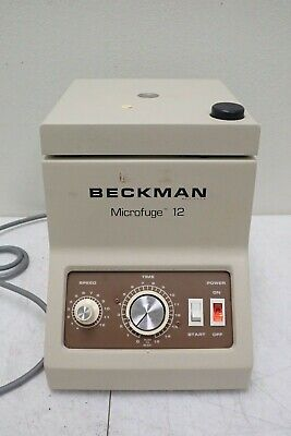 Beckman Microfuge 12 Laboratory Centrifuge With Rotor