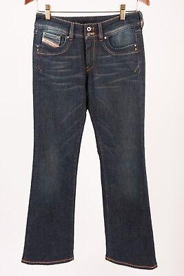(Diesel Womens Ronhar Jeans Denim Bootcut W 27 x 32 Dark Wash 0087Z Distressed)