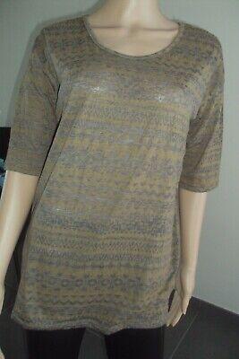 T-SHIRT/TOP/TUNIQUE -N- blouse semi-opaque CASUAL CLOTHING T M + L  - TB état