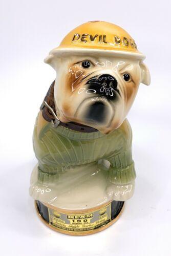 "Vintage 1979 Jim Beam ""Devil Dog"" USMC Decanter Regal China"