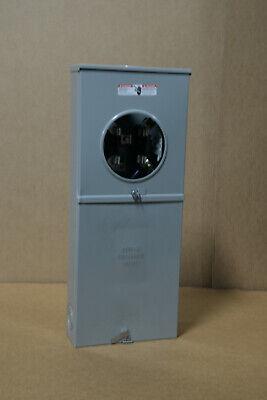 Meter Socket Lg Pedestal W200 Amp Breaker Installed New Surplus