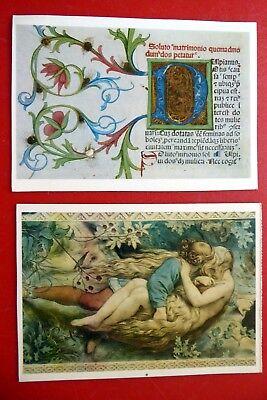 2 neue Kunstpostkarten DDR - Moritz von Schwind - Buchmalerei Initiale - KUNST gebraucht kaufen  Erfurt