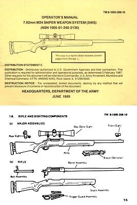 Sniper Weapons System (SWS) 1989 7.62mm M24 Operators Manual