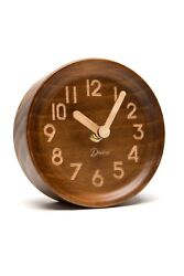 Driini Wooden Desk & Table Analog Clock Made of Genuine Pine (Battery Operated)