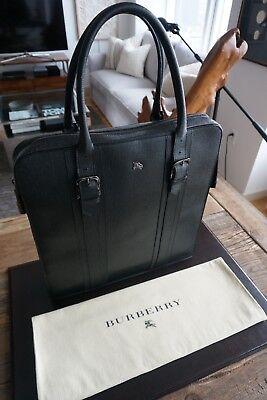 Men's Authentic Burberry Leather Full Zip Tote Bag - Rare