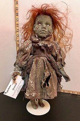 Geneva - creepy porcelain doll, horror zombie art doll, OOAK, Halloween - Creepy Porcelain Dolls