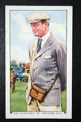 Senior Horse Racing Steward     Vintage 1930's Colour Card # VGC