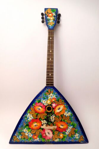 Original Russian Folk Instrument Balalaika 6 string one copy hand painted 1988