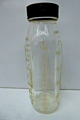 VINTAGE PYREX BABIES GLASS BOTTLE STEADIFLOW OUNCES NURSERYLAND AUSTRALIAN GLASS