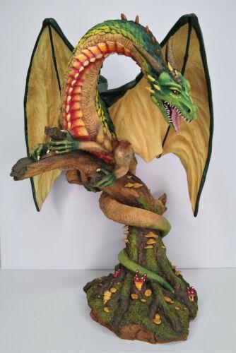 The Land of the Dragons Tudor Mint Large Woodland Dragon K015 Figurine Statue