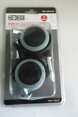 2 Pack Rubber Twin Wheel Caster 10026182 516 Stem 2 Wheel With Brakes