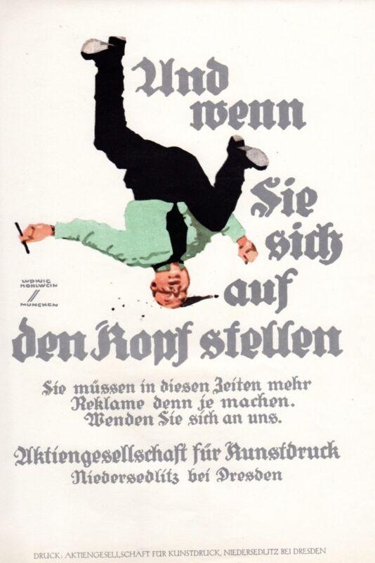 ADVERTISEMENT PRINTING AKTIENGESELLSCHAFT FUR KUNSTDRUCK 1926 HOHLWEIN