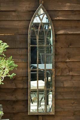 Large Wall Mirror Metal Arched Outdoor Frost Protected 3ft3 x 9.5'' 100 x 24cm