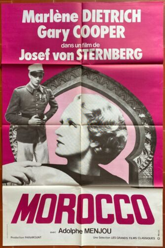 Poster Morocco Hearts Burned Marlene Dietrich Gary Cooper 31 1/2x47 3/16in