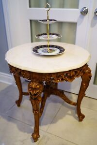 Rococo marble side table