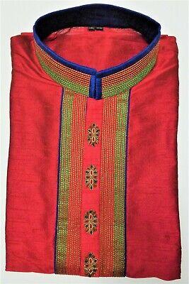 Men's embroidered Kurta with designer sleeves & back for special Occasions - 40 Designer Mens Kurta