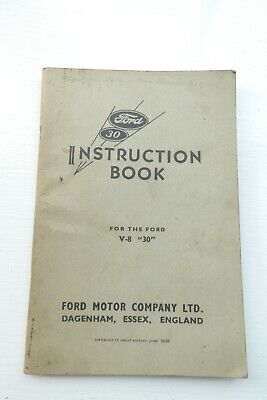Usado, 1938 Instruction Book for the Ford V-8 '30' Motor Classic Car comprar usado  Enviando para Brazil