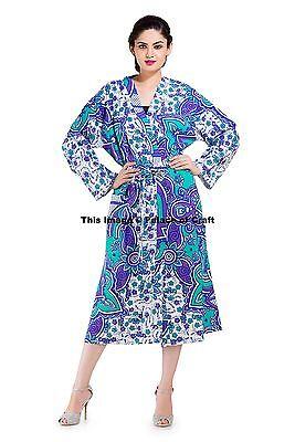 Real Elefante Mandala Novia Boda Dama Honor Bata Floral Albornoz Kimono Vestido
