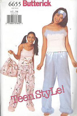Mask Sewing Pattern (Butterick 6655 Junior's Top, Pants, Bag and Mask  Sewing)