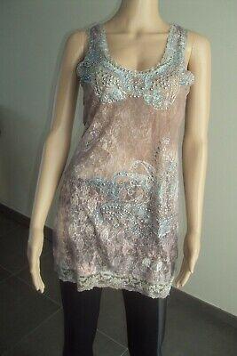 T-SHIRT/BLOUSE/TOP - longue blouse semi-opaque MISSY T S/M - TB état