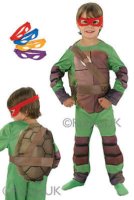 Kid's Boys Official Teenage Mutant Ninja Turtles Costume Fancy Dress Party](Official Ninja Turtle Costume)