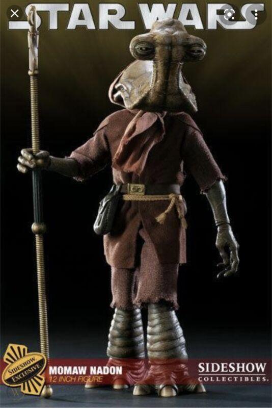 "Sideshow Exclusive Figure Momaw Nadon Hammerhead 12"" Star Wars 1/6 Sealed"