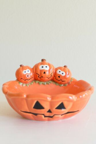 Pumpkin Anthropomorphic Jack-O-Lantern Orange Soap Dish Papel Freelance Srilanka