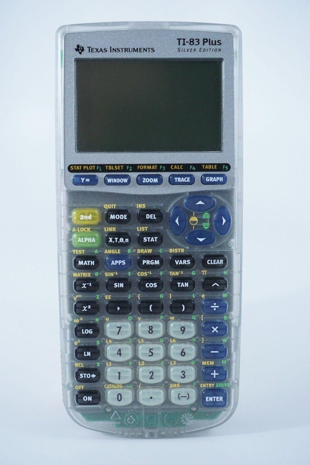 texas instruments ti 83 plus silver edition graphing calculator ebay rh ebay com Texas Instruments TI-83 TI-83 Graphing Calculator