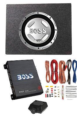 """Boss Audio Pandemonium 12"""" 1400W Subwoofer + Shallow Enclosure + Amplifier & Wire Kit"""
